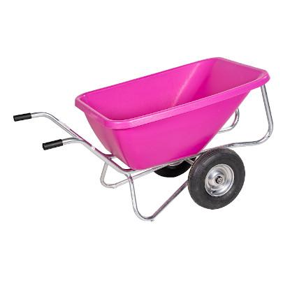 Schubkarre mit zwei Rädern in Pink
